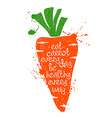 Colorful Of Isolated Carrot Silhouette vector image