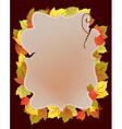 Card with autumn leaf vector image