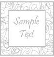 Hand drawn white art frame vector image