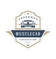 muscle car logo template design element vector image