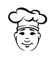 Outline portrait of cook in a toque vector image