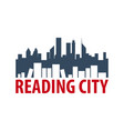 reading city book store logo education and book vector image