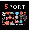 Sporting bright set vector image