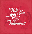 Valentines Day Vintage Greeting Card Element vector image