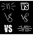 Versus letters logo White V and S symbols vector image