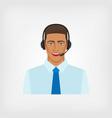 young man operator call center vector image