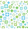 Medical background Blue and green crosses vector image vector image