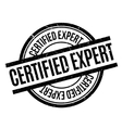 Certified Expert rubber stamp vector image