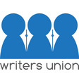 writers union negative space concept design vector image