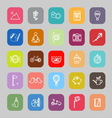 Slow life activity flat line icons vector image