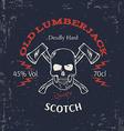 Whiskey Label Design T-shirt Print vector image