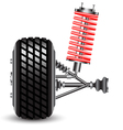 Front car suspension vector image vector image
