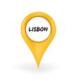 Location Lisbon vector image