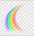 transparent rainbow vector image