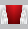 white curtain on red design background vector image