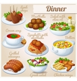 Set of food icons Dinner vector image