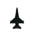 simple black fighter icon on white background vector image