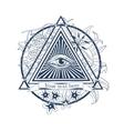 All seeing eye  Tatoo masonic symbol vector image