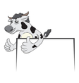 cow and board vector image vector image