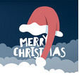 Greeting card with Santas hat vector image