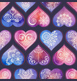 watercolor seamless patern with heart and mandala vector image