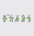 set kit collection sticker emoji emoticon emotion vector image