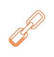 silhouette chain symbol icon design vector image