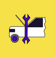 flat icon design collection car and tool vector image vector image