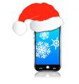 Phone Christmas Gift vector image