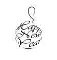 happy new year logo christmas ball vector image
