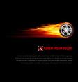 Flaming wheel vector image