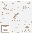 Air windmill travel seamless pattern Thin line ico vector image