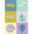 Icons pastel vector image