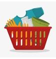 laundry service concept design vector image