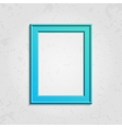 Blue modern picture frame vector image