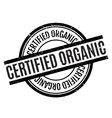 Certified organic rubber stamp vector image