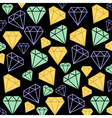 Diamonds background vector image