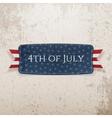 Fourth of July national Emblem vector image