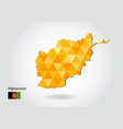 geometric polygonal style map of afghanistan low vector image