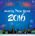 Happy New Year 2016 The white snow and Christmas vector image