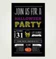 Invitation Halloween vector image