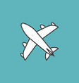 plane icon thin line vector image