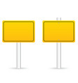 road traffic sign in yellow set vector image
