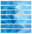 set of triangular banners vector image