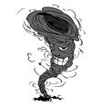 smiling tornado vector image
