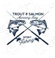Fishing Logo Salmon Fish icon vector image