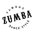 Famous dance style zumba stamp vector image