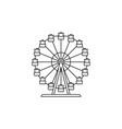 Ferris wheel icon linear design isolated vector image