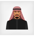 Arab man in traditional clothes vector image