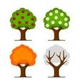 Apple Tree Set vector image